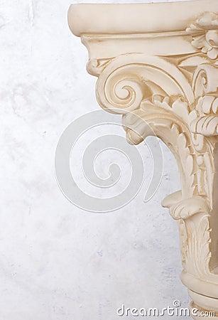Close up romano da coluna