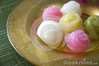 Close up roses dessert