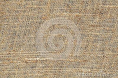 Close up of sackcloth