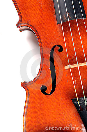 Close Up Section of Antique Violin