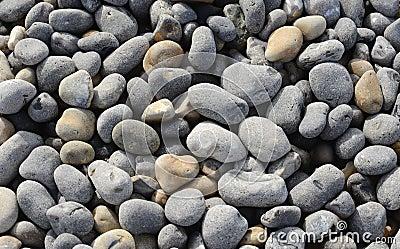 Close up of shingle on beach