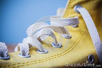 Close up on shoe