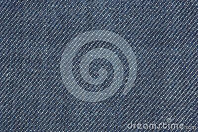 Close-up shot of blue denim
