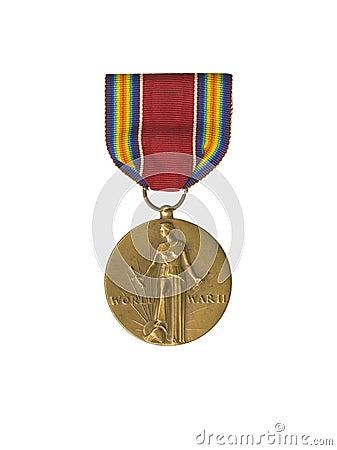 Close up shot of a bronze medal
