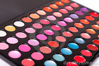 Close-up shot of lip gloss palette