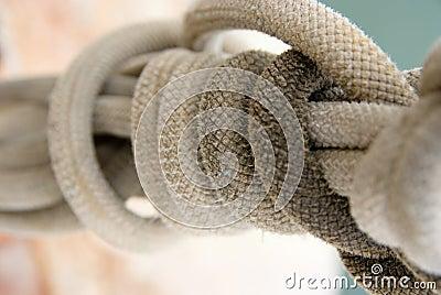 Close-up shot on nautical rope