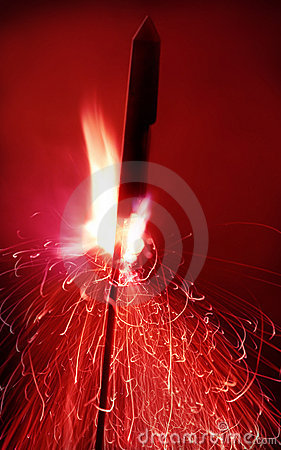 Free Close Up Shot Of A Firework Ready To Go, Motion Blur Stock Image - 1708041