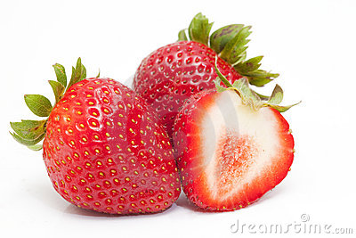 Close up shot of tasty strawberries