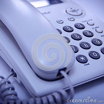Close up shot of telephone