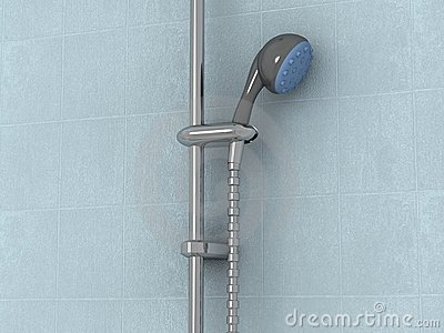 Close-up of showerhead