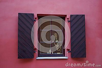 Close-up singl wood old window