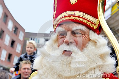 Close up of Sinterklaas Editorial Stock Image