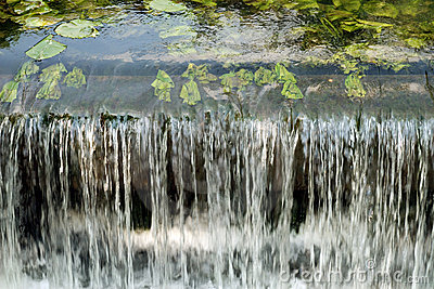 Close up of a small weir