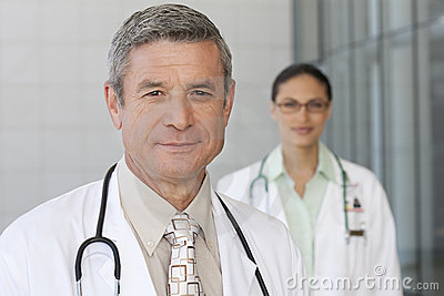 Close up of smiling male doctor