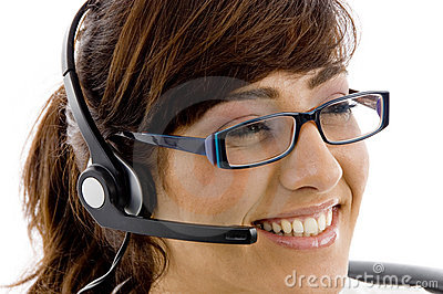 Close Up Of Smiling Service Provider Stock Image - Image: 7366401