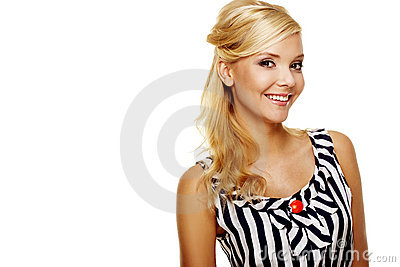 Close up of a Smiling Young Business lady