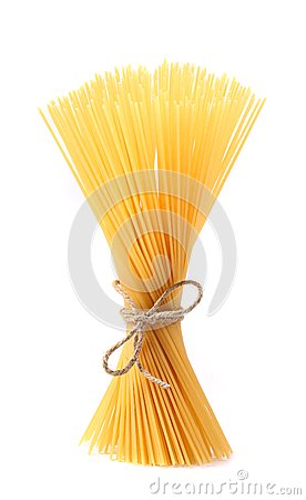 Close up of Spaghetti isolated