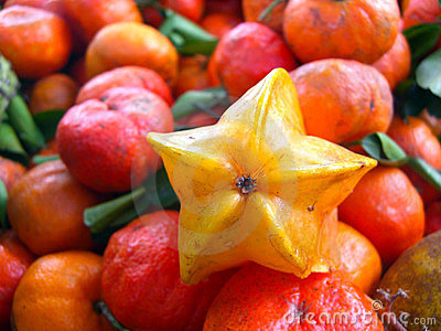 Close up of star fruit