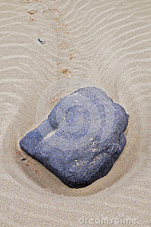 Close-up of a stone on the beach of Lanzarote