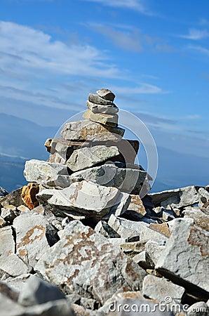 Close-up of stone handmade landmark