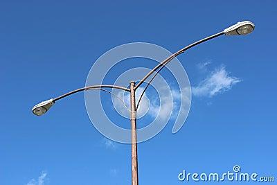 Close up streetlamp