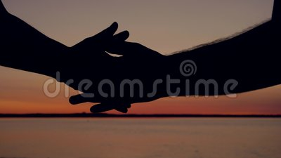 Man Hands Touch And Caress With The Tenderness Of A Woman Hands At
