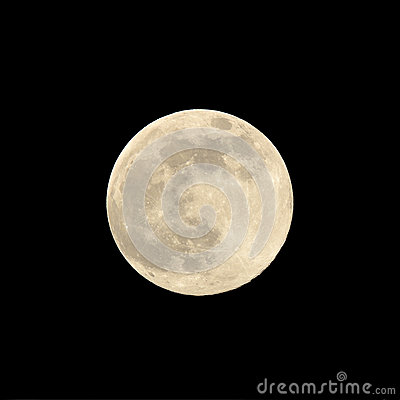 Close up of a super moon in August 2014 against a black background