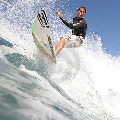 Close up of surfer Editorial Image