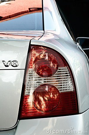 Close-up of taillight