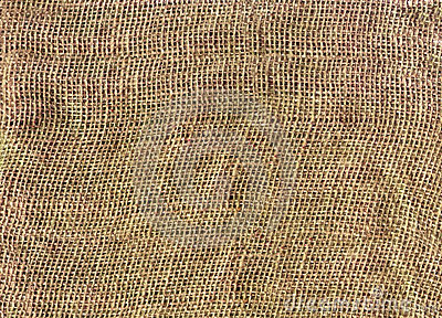 Close-up textured background of burlap