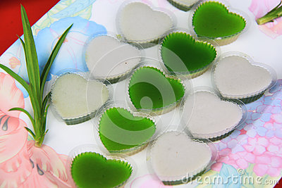 Close up thai jelly
