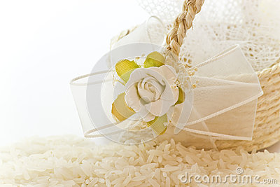 Close up to the rice for wedding
