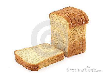 Close-up of toast bread on white #2