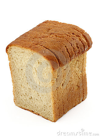 Close-up of toast bread on white