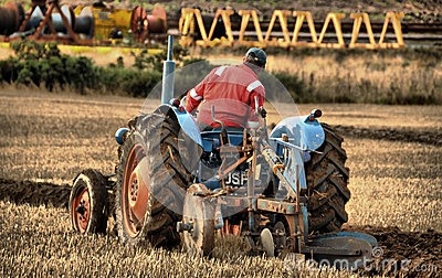 Tractor and Ploughing, at the Scottish Ploughing C Editorial Photography
