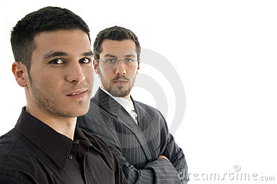 Close up of two professional people