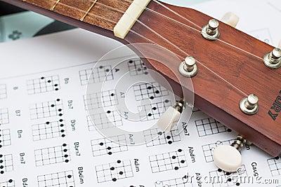Close up ukulele