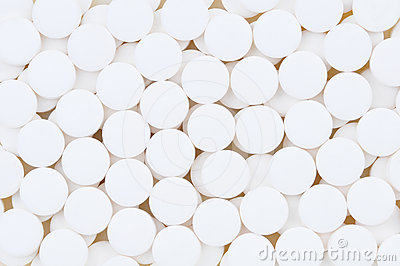 Close-up van de Tabletten van de Aspirine