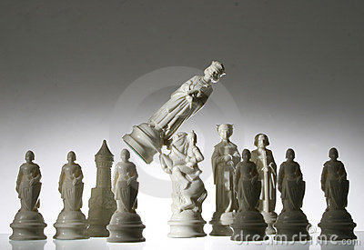 Close-up view of chess.