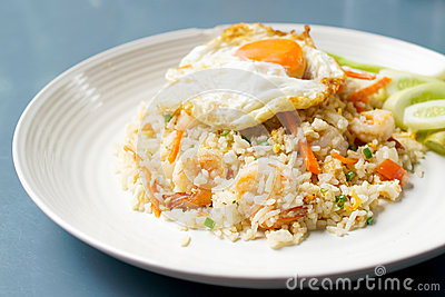 Close up view of fried rice
