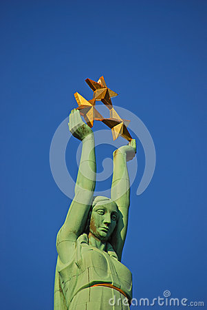Free Close Up View Of Freedom Monument In Riga Latvia Royalty Free Stock Image - 48284986