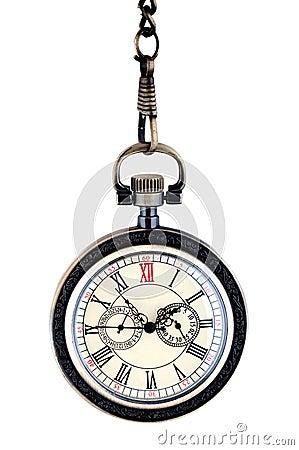 Close up of vintage pocket watch