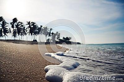 Close up wave on a tropical beach dof