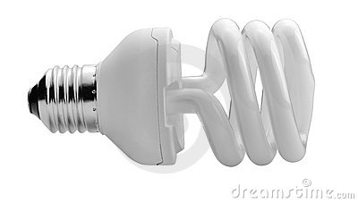 Close up of a white light bulb