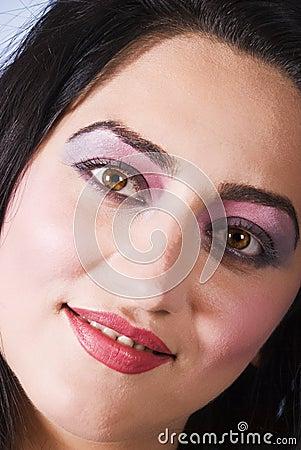 Close up woman face
