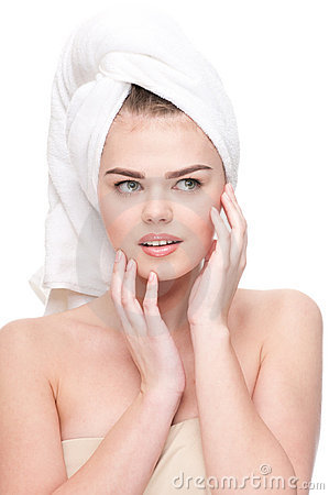 Close-up of woman with perfect health skin