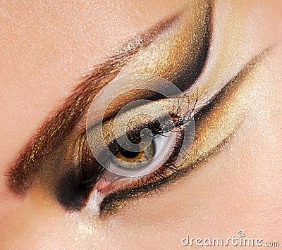 Close-up woman s eye