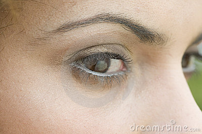 Close up of a woman s eyes