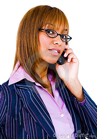 Close-up of woman talking on phone