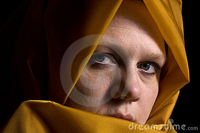Close up on a Woman in Veil